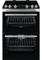 Zanussi ZCV66050XA 60cm Electric Cooker with Ceramic Hob - Stainless Steel