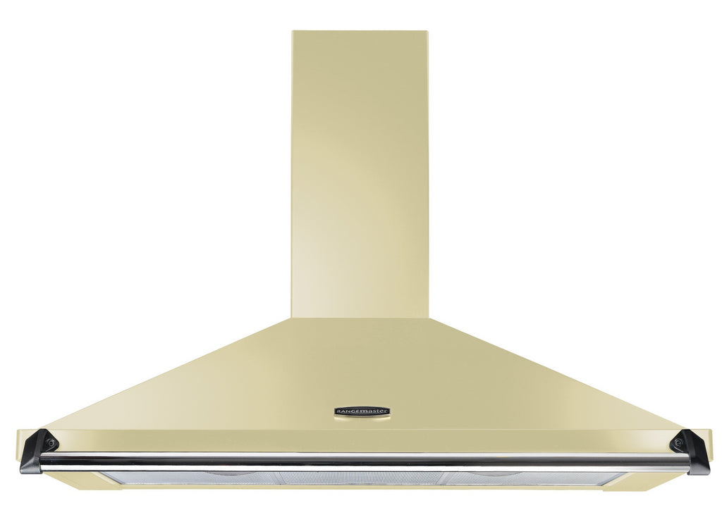 Rangemaster Classic CLAHDC100CR/C 100cm Chimney Hood - Cream with Chrome Trim