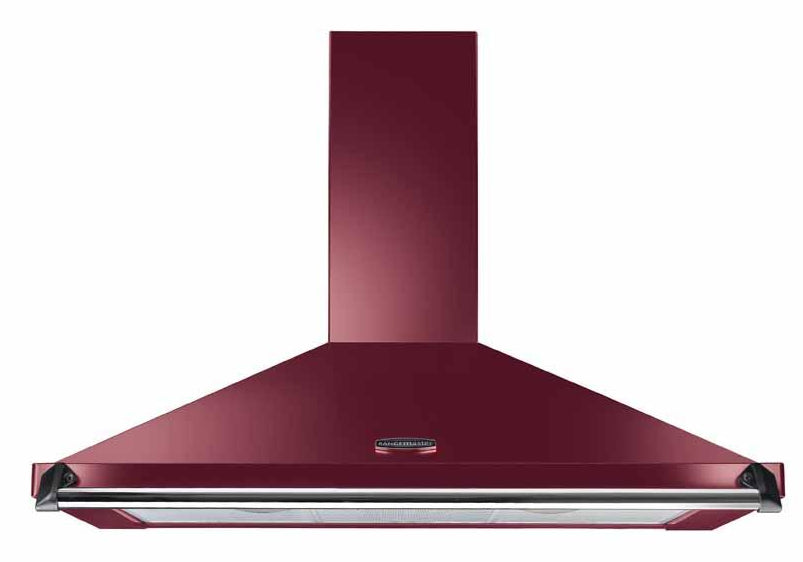 Rangemaster Classic CLAHDC90CY/C 90cm Chimney Hood - Cranberry with Chrome Trim