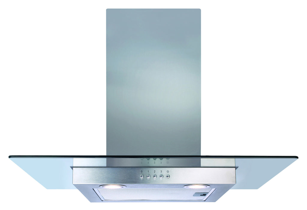 CDA ECN72SS 70cm Flat Glass Hood Stainless Steel - Moores Appliances Ltd.