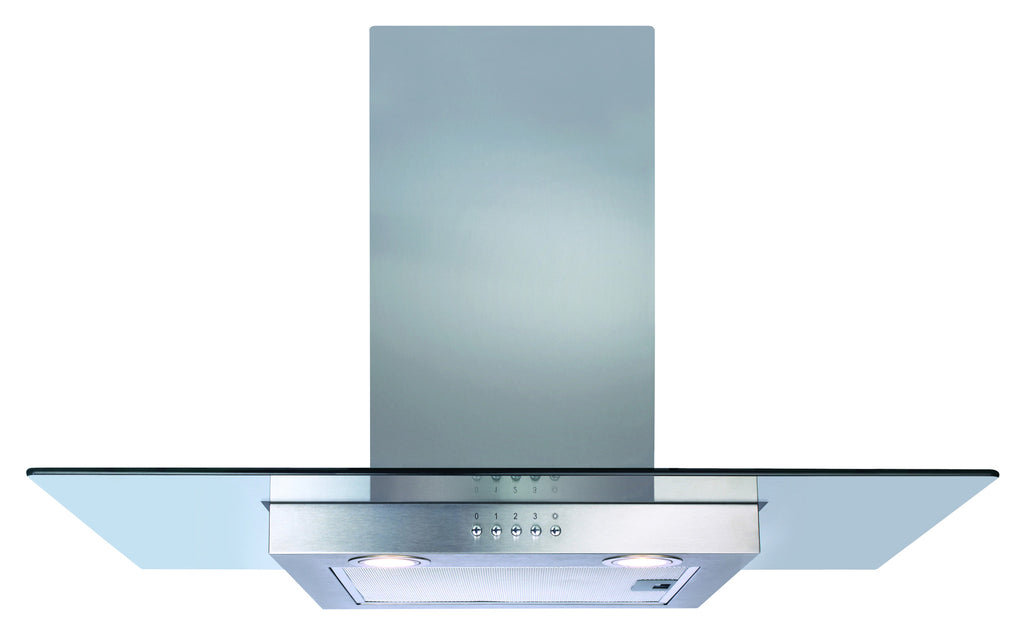 CDA ECN92SS 90cm Flat Glass Hood Stainless Steel - Moores Appliances Ltd.