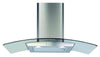 CDA ECP82SS 80cm Curved Glass Hood Stainless Steel - Moores Appliances Ltd.
