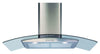 CDA ECP92SS 90cm Curved Glass Hood Stainless Steel - Moores Appliances Ltd.