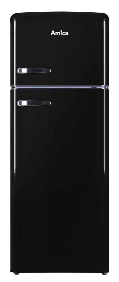 Amica FDR2213B 55cm Fridge Freezer - Black - F Rated