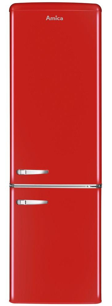 Amica FDR2213R 55cm Fridge Freezer - Red - A+ Rated