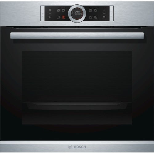 Bosch Serie 8 HBG674BS1B Electric Oven Pyrolytic 71 Litres Stainless Steel - Moores Appliances Ltd.