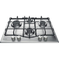 Hotpoint PCN642BIXH 59cm Gas Hob - Stainless Steel