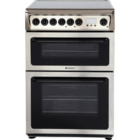 Hotpoint HAE60X 60cm Electric Cooker with Ceramic Hob - Inox