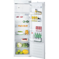 Hotpoint HSZ18011 54cm Integrated Upright Fridge with Ice Box - Sliding Door Fixing Kit - White - A+ Rated