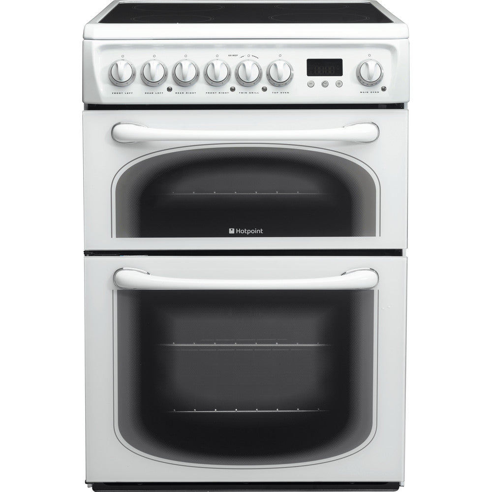 Hotpoint 60HEP 60cm Electric Cooker with Ceramic Hob - White