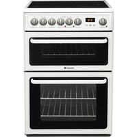 Hotpoint HAE60P  60cm Electric Cooker with Ceramic Hob - White