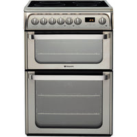 Hotpoint HUI611X 60cm Electric Cooker with Ceramic Hob - Inox