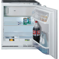 Hotpoint HFA11 60cm Integrated Undercounter Fridge with Ice Box - Fixed Door Fixing Kit - White - A+ Rated