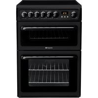 Hotpoint HAE60K 60cm Electric Cooker with Ceramic Hob - Black