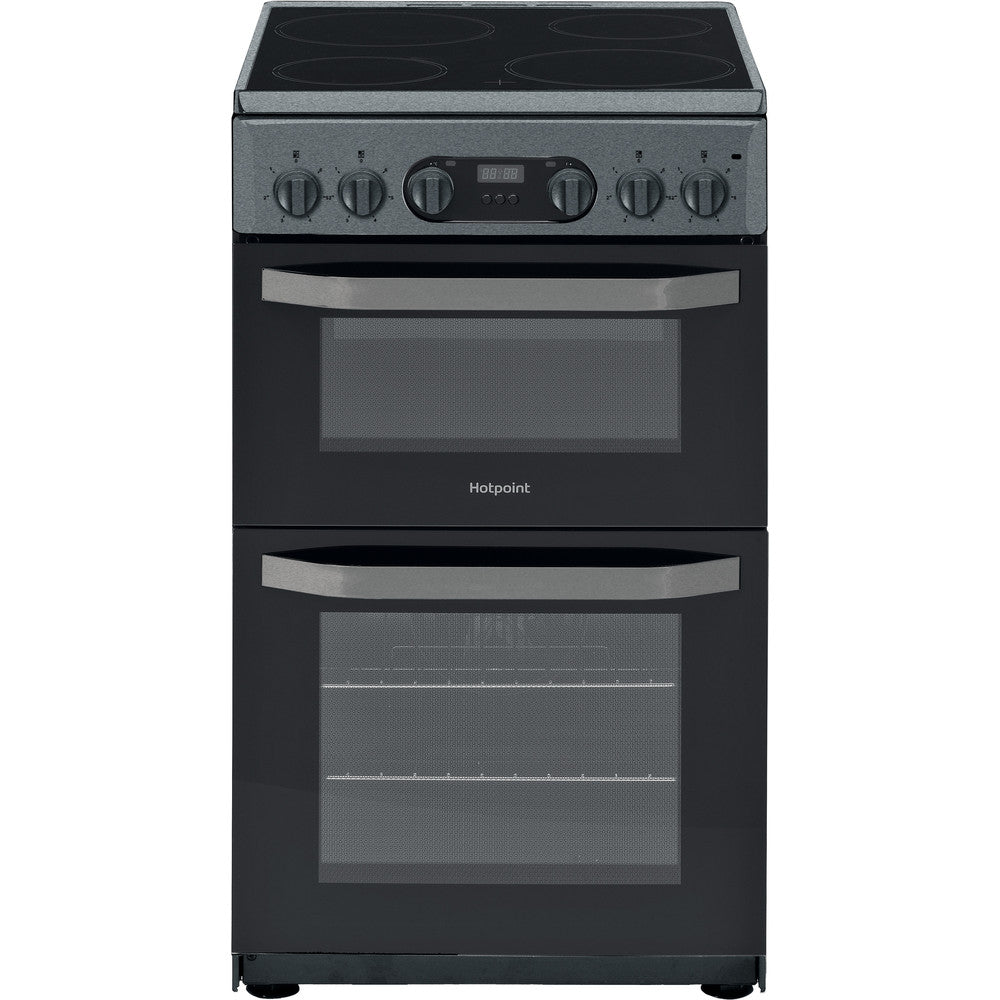 Hotpoint HD5V93CCSS 50cm Electric Cooker with Ceramic Hob - Silver