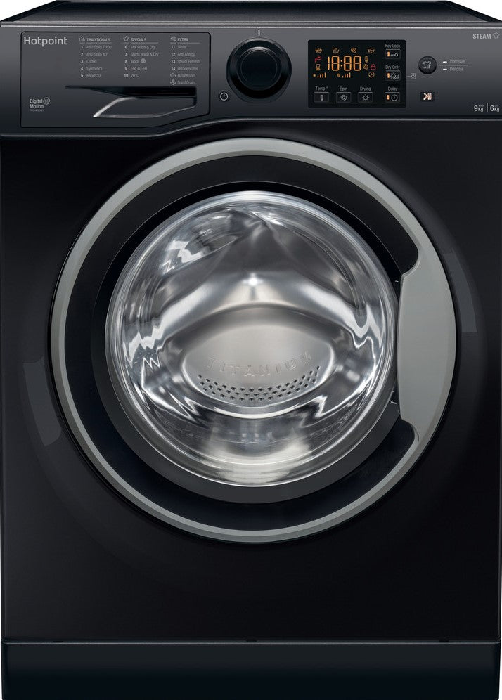Hotpoint RDG9643KSUKN 9Kg / 6Kg Washer Dryer with 1400 rpm - Black - A Rated