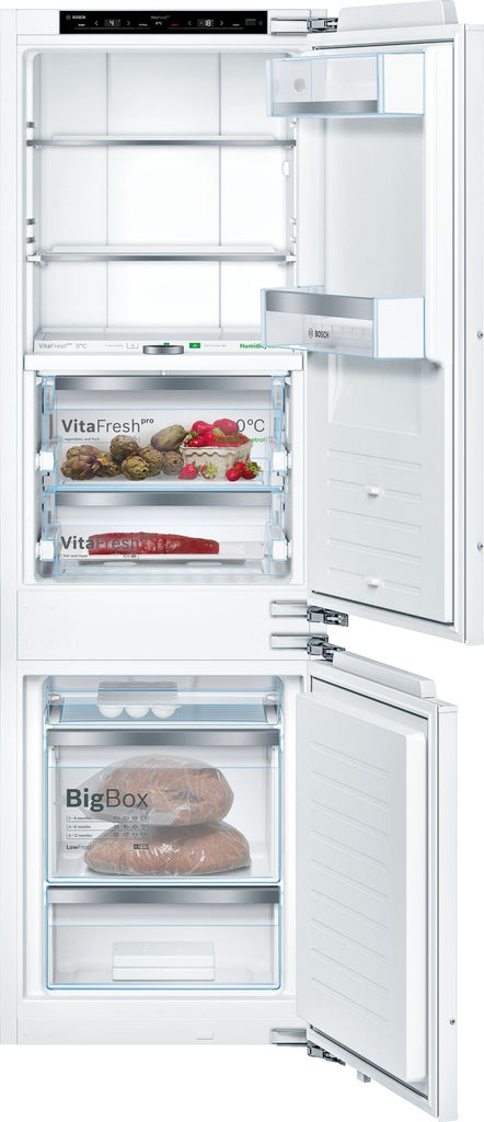 Bosch Serie 8 KIF86PFE0 Integrated Frost Free Fridge Freezer with Fixed Door Fixing Kit - White - A++ Rated