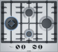 Bosch Serie 6 PCI6A5B90 58cm Gas Hob - Stainless Steel