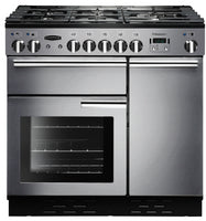 Rangemaster Professional Plus PROP90DFFSS/C 90cm Dual Fuel Range Cooker - Stainless Steel/Chrome Trim