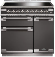 Rangemaster Elise ELS90EISL 90cm Electric Range Cooker with Induction Hob - Slate/Brushed Chrome Trim