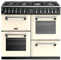 Stoves Richmond Deluxe S1000DF 100cm Dual Fuel Range Cooker - Classic Cream