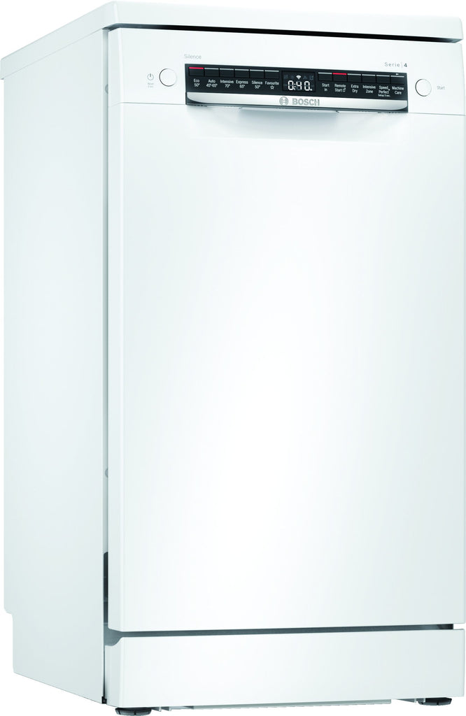 Bosch Serie 4 SPS4HMW53G Wifi Connected Slimline Dishwasher - White - E Rated