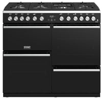 Stoves Precision Deluxe S1000DF Dual Fuel Range Cooker - Black