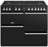 Stoves Precision Deluxe S1000DF GTG Dual Fuel Range Cooker - Black