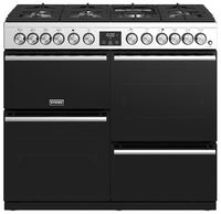 Stoves Precision Deluxe S1000DF 100cm Dual Fuel Range Cooker - Stainless Steel