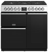 Stoves Precision Deluxe S900DF 90cm Dual Fuel Range Cooker - Stainless Steel