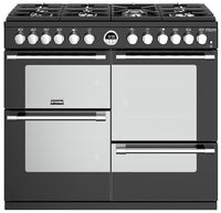 Stoves Sterling Deluxe S1000DF 100cm Dual Fuel Range Cooker - Black