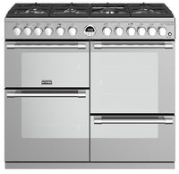 Stoves Sterling Deluxe S1000DF 100cm Dual Fuel Range Cooker - Stainless Steel