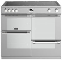 Stoves Sterling Deluxe S1000Ei 100cm Electric Range Cooker with Induction Hob - Stainless Steel