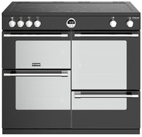 Stoves Sterling Deluxe S1000Ei 100cm Electric Range Cooker with Induction Hob - Black