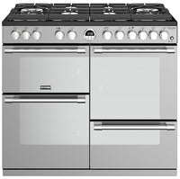 Stoves Sterling Deluxe S1000DF GTG 100cm Dual Fuel Range Cooker - Stainless Steel