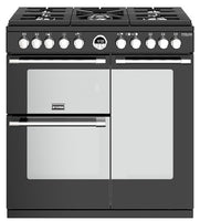 Stoves Sterling Deluxe S900DF 90cm Dual Fuel Range Cooker - Black