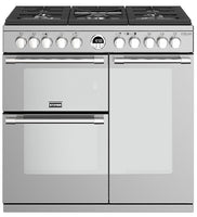 Stoves Sterling Deluxe S900DF 90cm Dual Fuel Range Cooker - Stainless Steel