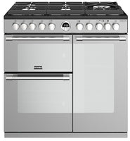 Stoves Sterling Deluxe S900DF GTG 90cm Dual Fuel Range Cooker - Stainless Steel