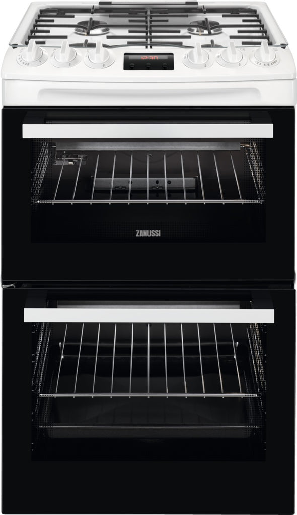 Zanussi ZCG43250WA 55cm Gas Cooker with Full Width Electric Grill  - White