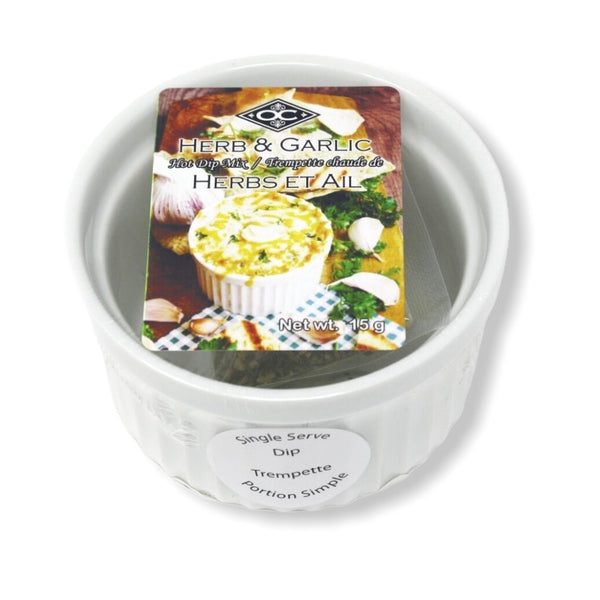 Single Serve Ramekin Hot Dip - Garlic & Herb