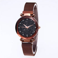 Load image into Gallery viewer, Hot Starry Sky Watch Waterproof Magnet Strap Stainless Steel Women Gift - Champagne Gold