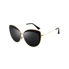 Load image into Gallery viewer, Vintage Metal Full Frame Embellished Cat Eye Sunglasses - Double Black