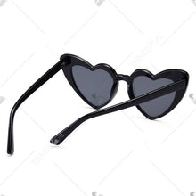 Load image into Gallery viewer, Full Frame Heart Shape Sunglasses - Black And Pink