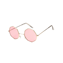 Load image into Gallery viewer, Geometric Metal Frame Sunglasses - Light Pink
