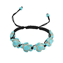 Load image into Gallery viewer, Bohemian Artificial Turquoise Beaded Bracelet - Medium Turquoise