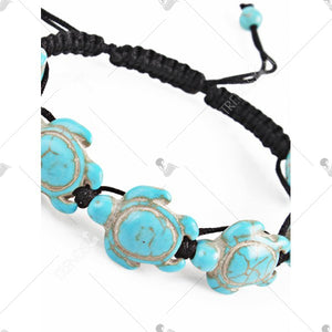 Bohemian Artificial Turquoise Beaded Bracelet - Medium Turquoise