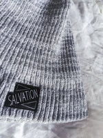 "Load image into Gallery viewer, ""Salvation"" Premium Beanie Hat (Grey)"