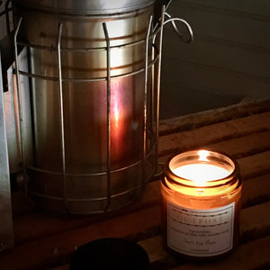 Beeswax Candle with Wooden Wick -  Just The Bees