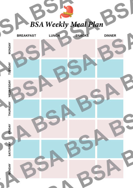 BSA Weekly Meal Planner