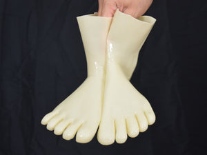 Ivory Toe Socks (Ankle Length)